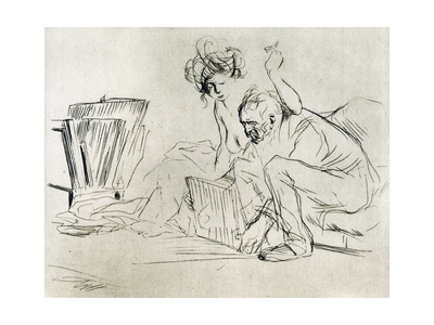 The Model at Rest, 1925 Giclee Print by Jean Louis Forain