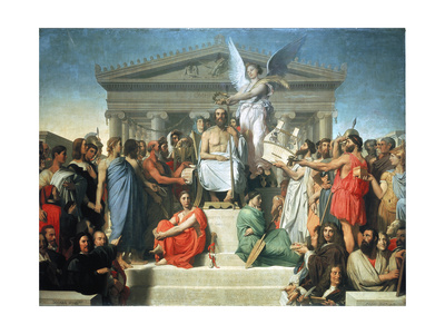 The Apotheosis of Homer, 1827 Giclee Print by Jean-Auguste-Dominique Ingres