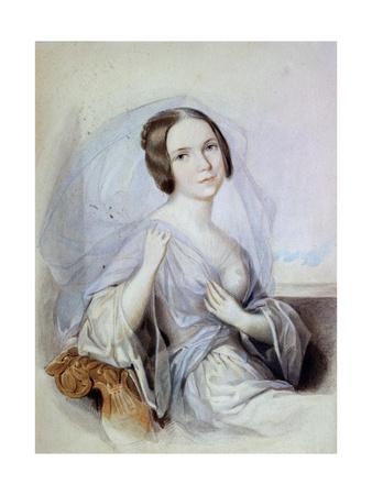 Portrait of the Singer Henriette Gertrude Sontag, 19th Century Giclee Print by Johann Nepomuk Ender