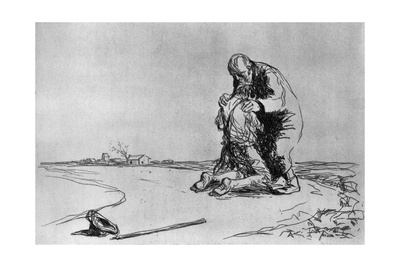 The Return of the Prodigal Son, 1925 Giclee Print by Jean Louis Forain