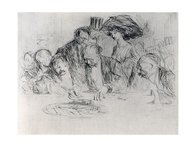 At the Gambling Table, 1925 Giclee Print by Jean Louis Forain