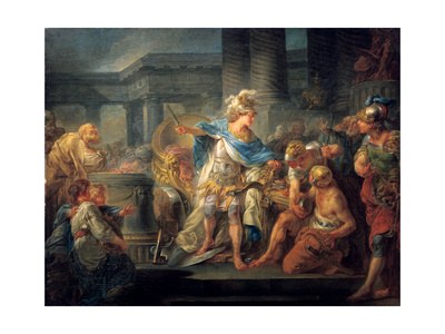 Alexander Cuts the Gordian Knot, Late 18th/Early 19th Century Giclee Print by Jean Simon Berthelemy