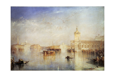 The Dogana, San Giorgio, Citella, from the Steps of the Europa, Venice, 1842 Giclee Print by Joseph Mallord William Turner