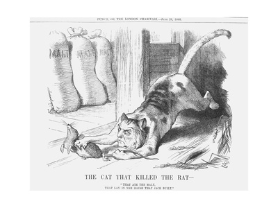 The Cat That Killed the Rat, 1880 Giclee Print by Joseph Swain