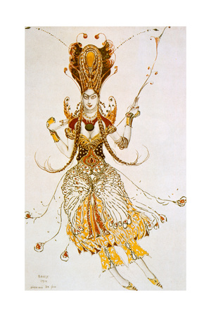 The Firebird, Costume Design for Stravinsky's Ballet the Firebird, 1910 Giclee Print by Leon Bakst