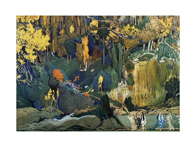 Décor for Debussy's Ballet L'Apres-Midi D'Un Faune (The Afternoon of a Fau), 1912 Giclee Print by Leon Bakst