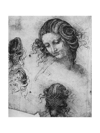 Kneeling Madonna with the Child and St.John, 1478-1480 Giclee Print by  Leonardo da Vinci