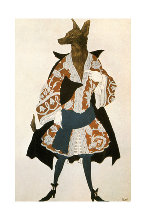 The Sleeping Beauty Wolf, 1921 Giclee Print by Leon Bakst