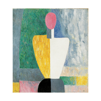 Torso (Figure with Pink Fac), 1928-1932 Giclee Print by Kazimir Malevich