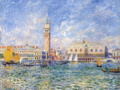 Venice, (The Doge's Palace), 1881 Giclee Print by Pierre-Auguste Renoir