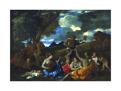 Le Grand Bacchanal, 1627-1628 Giclee Print by Nicolas Poussin