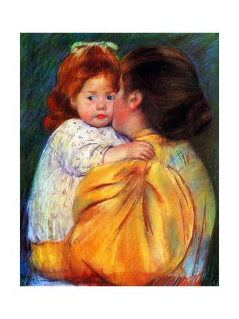 Maternal Kiss, 1896 Giclee Print by Mary Cassatt