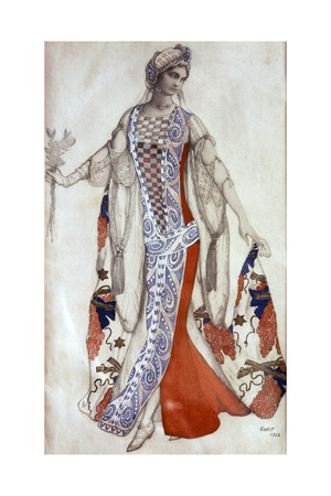 Sleeping Beauty, Ballet Costume Design, C1913 Giclee Print by Leon Bakst