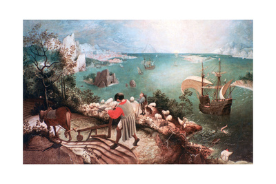 Landscape with the Fall of Icarus, C1555 Giclee Print by Pieter Bruegel the Elder