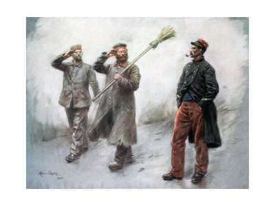 Fatigue Duty at Headquaters, German Prisoners in Dinan, 1915 Giclee Print by Maurice Orange