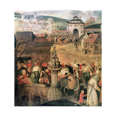 Christ Driving the Traders from the Temple' (Detail), C1584-1638 Giclee Print by Pieter Brueghel the Younger