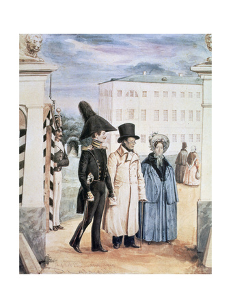 The Walk, 1837 Giclee Print by Pavel Andreevich Fedotov