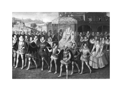 Procession of Queen Elizabeth I to Blackfriars, London, 16 June 1600 Giclee Print by Marcus Gheeraerts The Younger