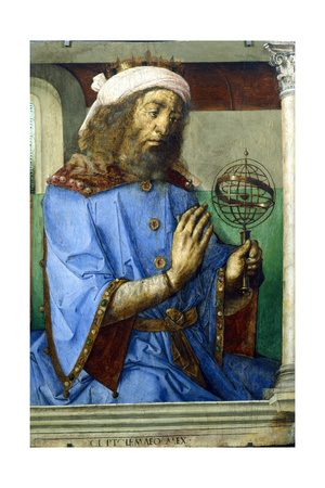 Ptolemy, Alexandrian Greek Astronomer and Geographer, Late 15th Century Giclée-tryk af Pedro Berruguete