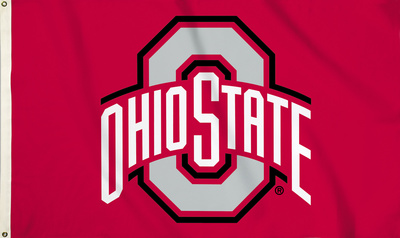 NCAA Ohio State Buckeyes Flag with Grommets Flag