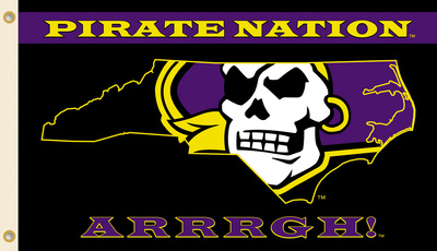 NCAA East Carolina Pirates Flag with Grommets Flag