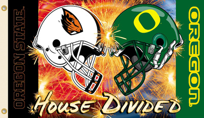 NCAA Oregon - Oregon State Rivarly House Divided Flag with Grommets Flag