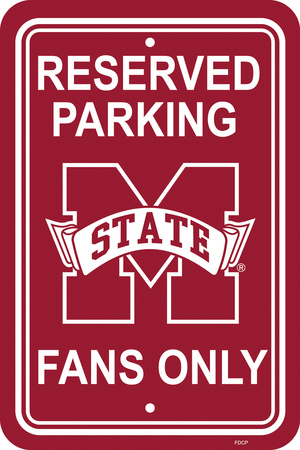 NCAA Mississippi State Bulldogs Parking Sign Wall Sign