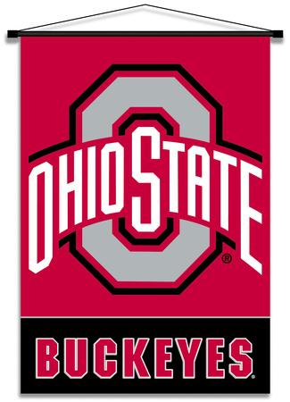 NCAA Ohio State Buckeyes Indoor Banner Scroll Bandera