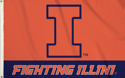 NCAA Illinois Fighting Illini Flag with Grommets Flag
