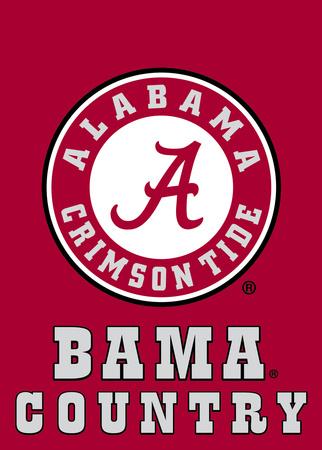 NCAA Alabama Crimson Tide 2-Sided Country Garden Flag Bandera