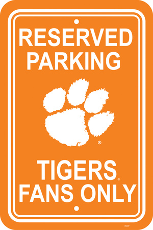 NCAA Clemson Tigers Parking Sign Wall Sign