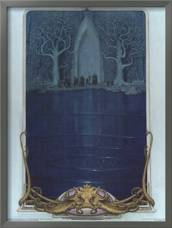 Watcher at the Gate (The Fellowship before the gate of Moria) Poster by Steve Hickman