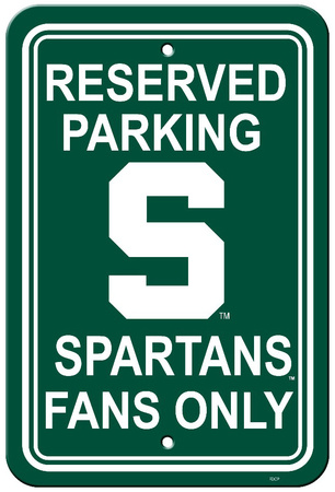 NCAA Michigan State Spartans Parking Sign Wall Sign