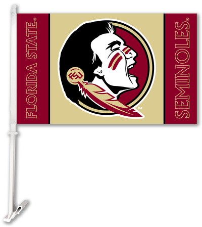 NCAA Florida State Seminoles Car Flag with Wall Bracket Flag