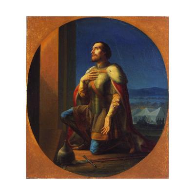 Alexander Nevsky, Grand Prince of Novgorod and Vladimir, 1855 Giclee Print by Pyotr Shamshin