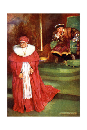 Wolsey's Interview with King Henry Viii Gicléetryck av Stephen Reid