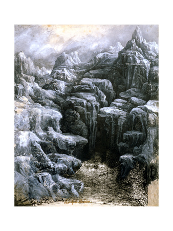 The Rocks, C1842-1885 Giclee Print by Rodolphe Bresdin
