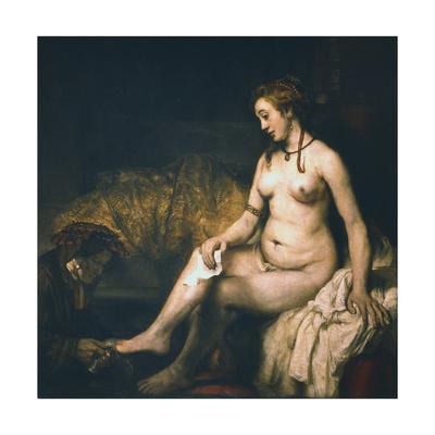 Bathsheba at Her Bath , 1654 Giclee Print by  Rembrandt van Rijn