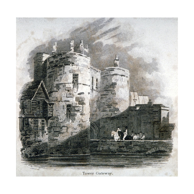 South View of the Tower of London with Figures on Horseback, C1810 Giclee Print by Robert Sands