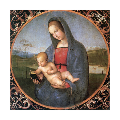 The Madonna Conestabile, 1502-1503 Giclee Print by  Raphael