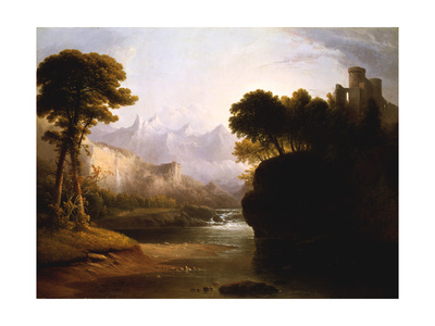 Fanciful Landscape, 1834 Giclee Print by Thomas Doughty