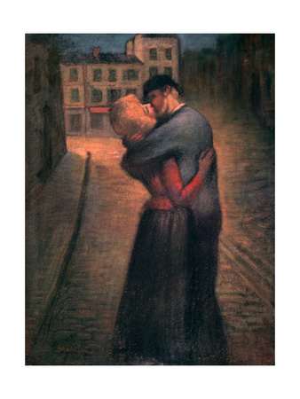 The Kiss, C1879-1923 Giclee Print by Theophile Alexandre Steinlen