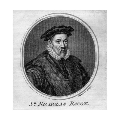 Sir Nicholas Bacon, 16th Century English Politician Giclee Print by T Chambars