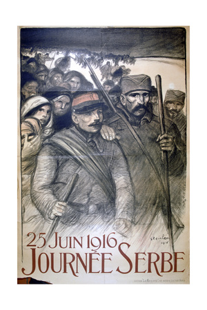 25 June 1916 - Serbia Day, French World War I Poster, 1916 Giclee Print by Theophile Alexandre Steinlen