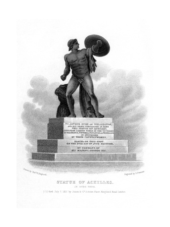 Statue of Achilles, Hyde Park, London, 1827 Giclee Print by S Freeman