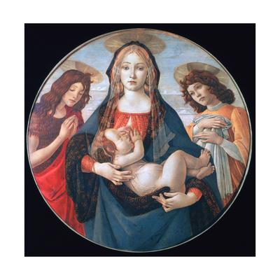 The Virgin and Child with Saint John and an Angel, C1490 Lámina giclée por Botticelli, Sandro