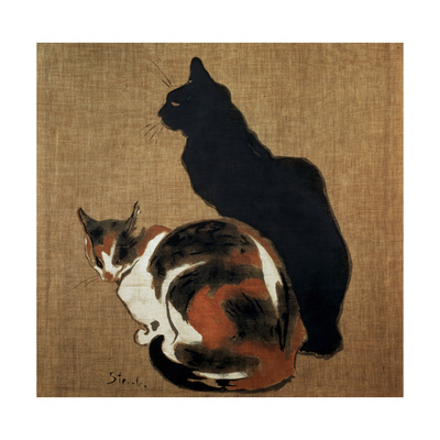 Two Cats, 1894 Giclee Print by Theophile Alexandre Steinlen