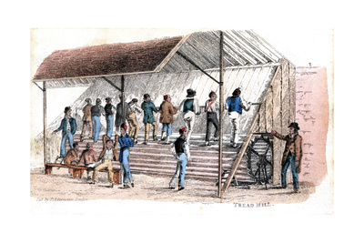 Treadmill at Brixton Prison, London, 1827 Giclee Print by Rudolph Ackermann