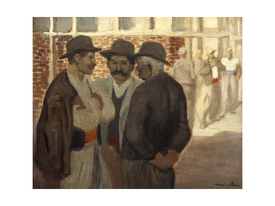 Ouvriers Du Batiment' ('Construction Workers), C1911 Giclee Print by Theophile Alexandre Steinlen