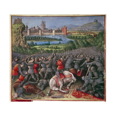 Battle During First Crusade (People's Crusad), 1096-1099 Giclee Print by Sebastian Marmoret French